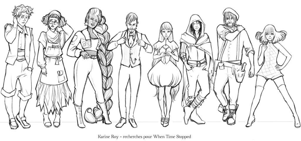 Line up character design