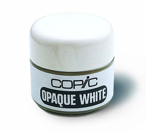 encre blanche copic